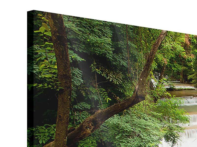 Panoramic 3 Piece Acrylic Print In Treehouse