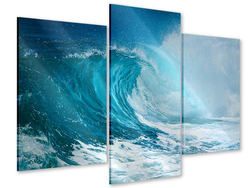 Modern 3 Piece Acrylic Print The Perfect Wave