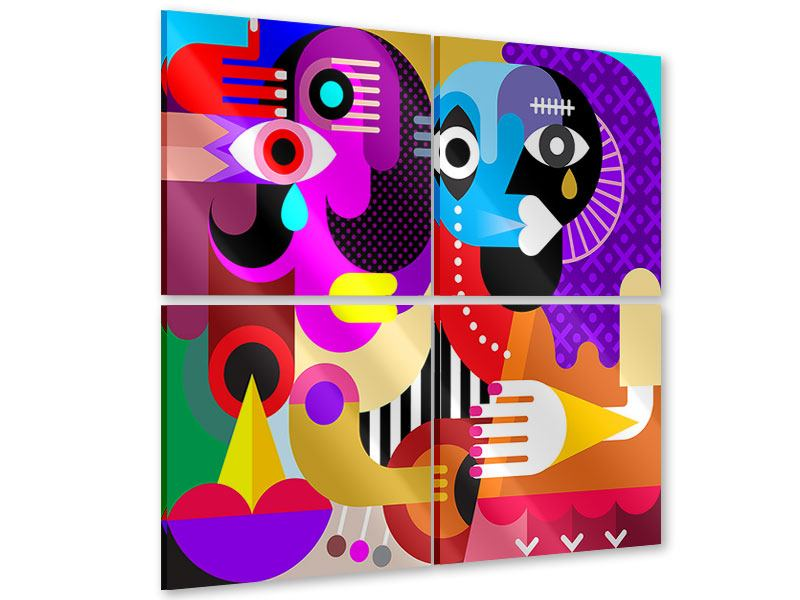 4 Piece Acrylic Print Modern Art People