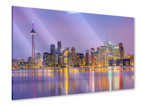 Acrylic Print Skyline Toronto At Night