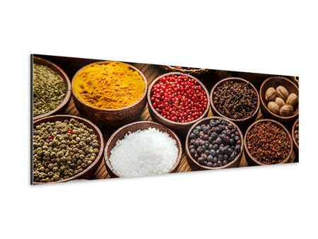 Panoramic Aluminium Print Hot Spices