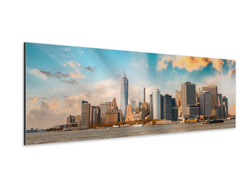Panoramic Aluminium Print New York, Skyline From The Other Side