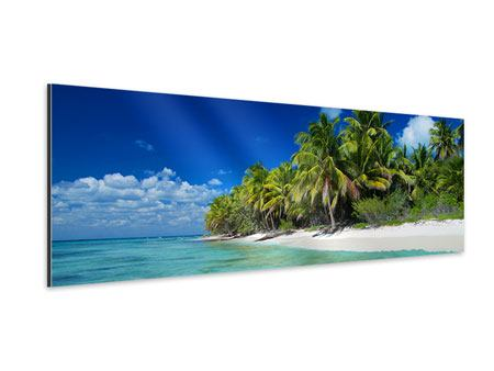 Panoramic Aluminium Print The Dream Island