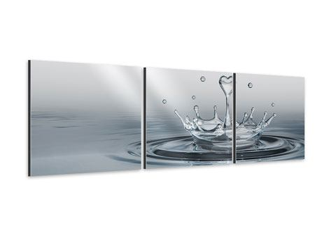 Panoramic 3 Piece Aluminium Print Water Figure