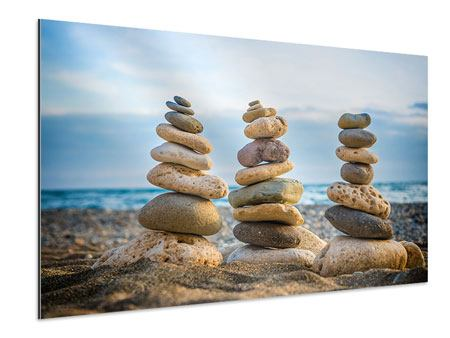 Aluminium Print Three Stone Stacks