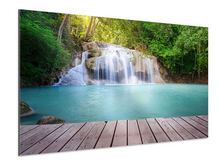 Aluminium Print Terrace At The Waterfall