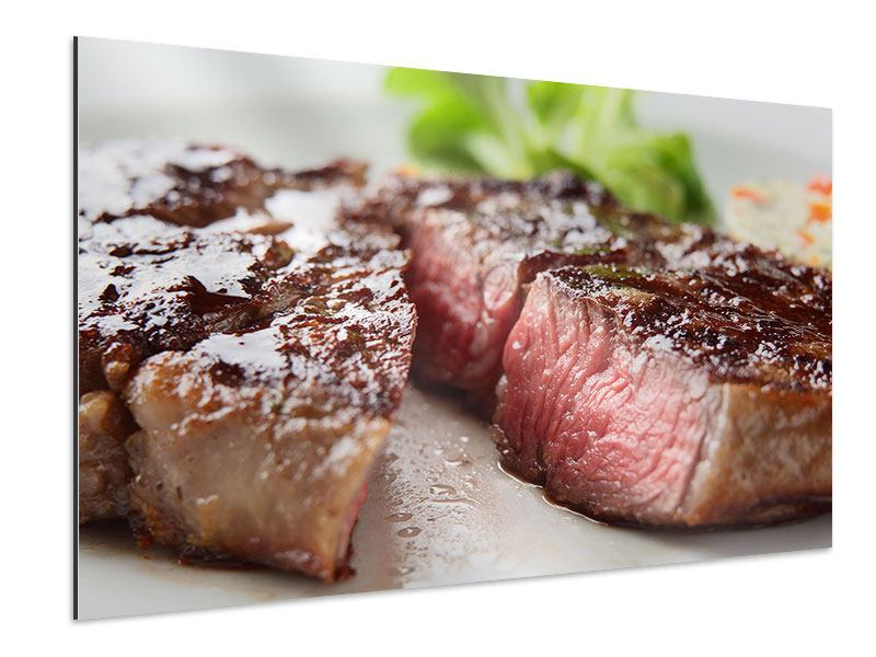 Aluminium Print Perfect Beef Filet