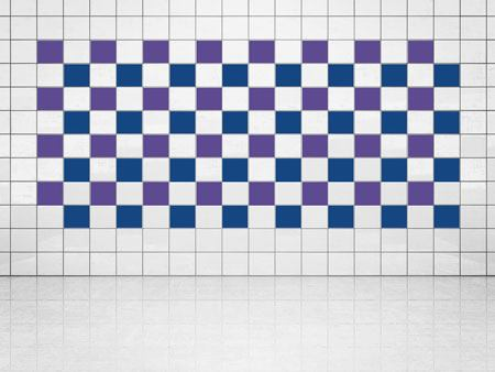 Tile Decor Ultramarine Blue (A752) and Violet (A717) Set of 20