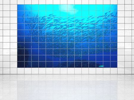 Tile Print Fish World