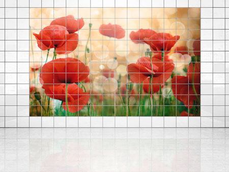 Tile Print The Poppy