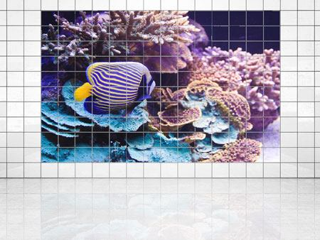 Tile Print Fascination Underwater