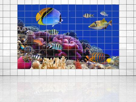 Tile Print World Of Fish