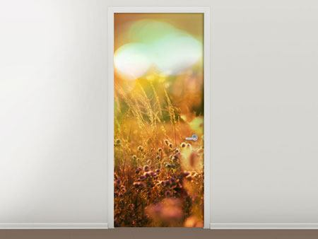 Door Mural Flower Meadow At Twilight