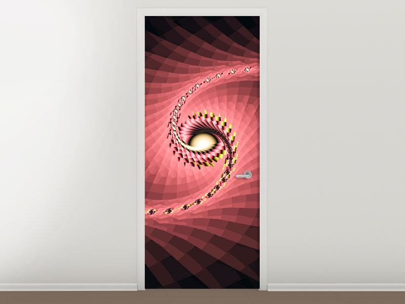 Door Mural Abstract Windings
