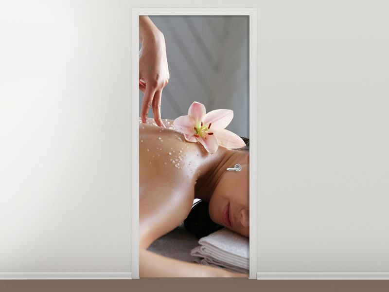 Poster de Porte Massage spa