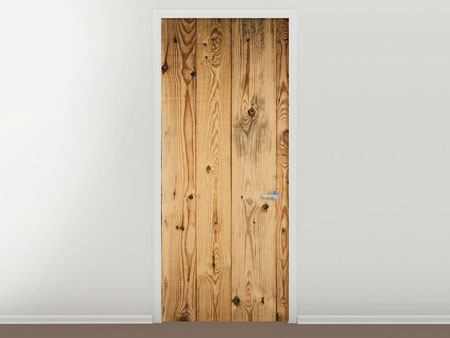 Door Mural Walnut Wood