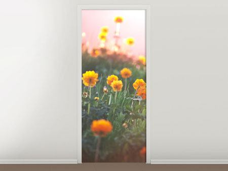Door Mural The mountain Meadow