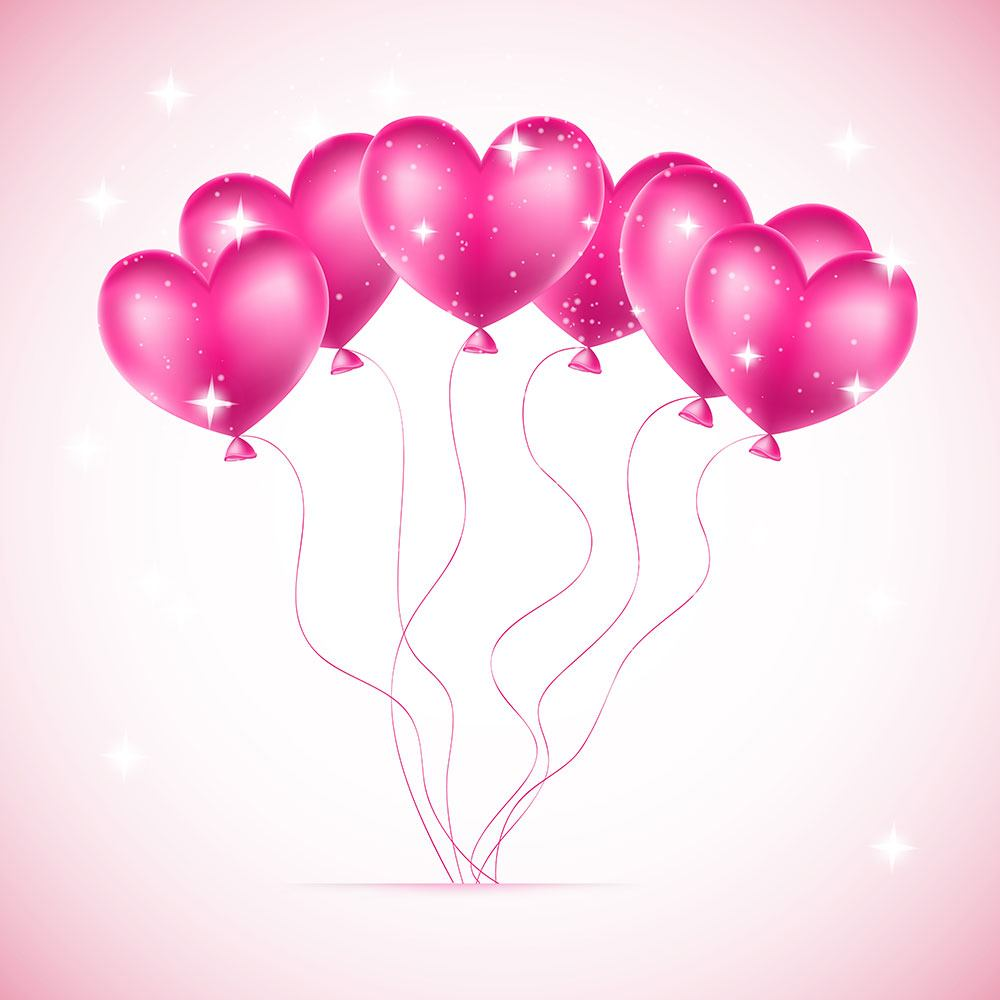 Furniture Foil Heart Balloons