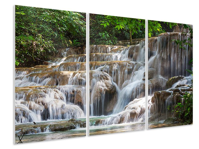 3 Piece Forex Print Mexican Waterfall