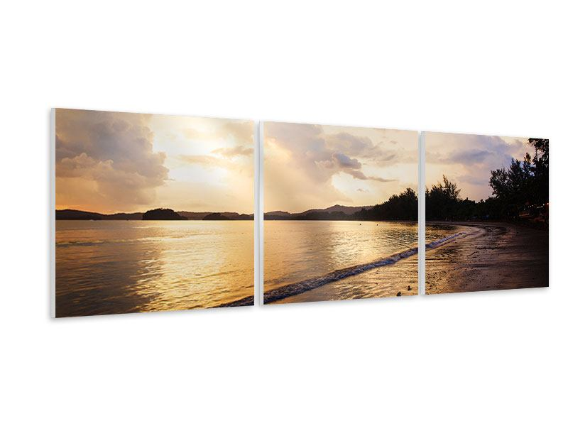 Panoramic 3 Piece Forex Print The Shore