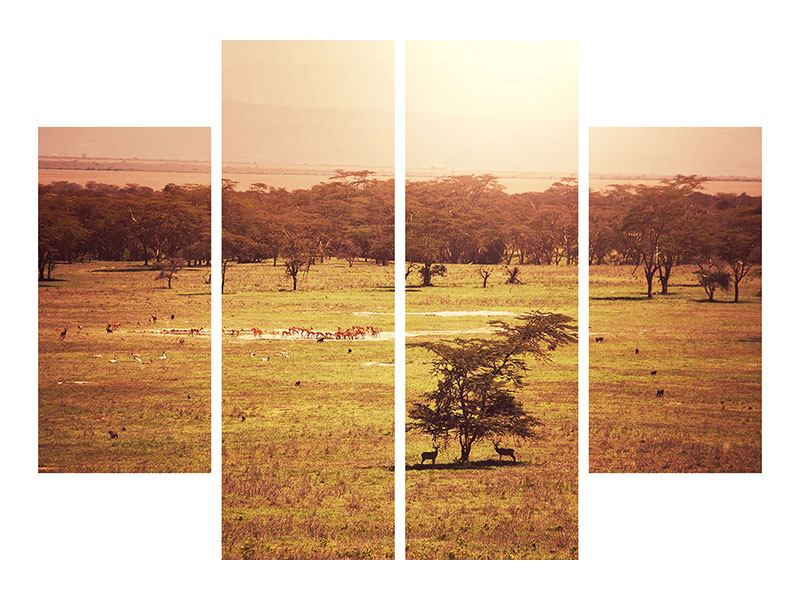 4 Piece Forex Print Picturesque Africa