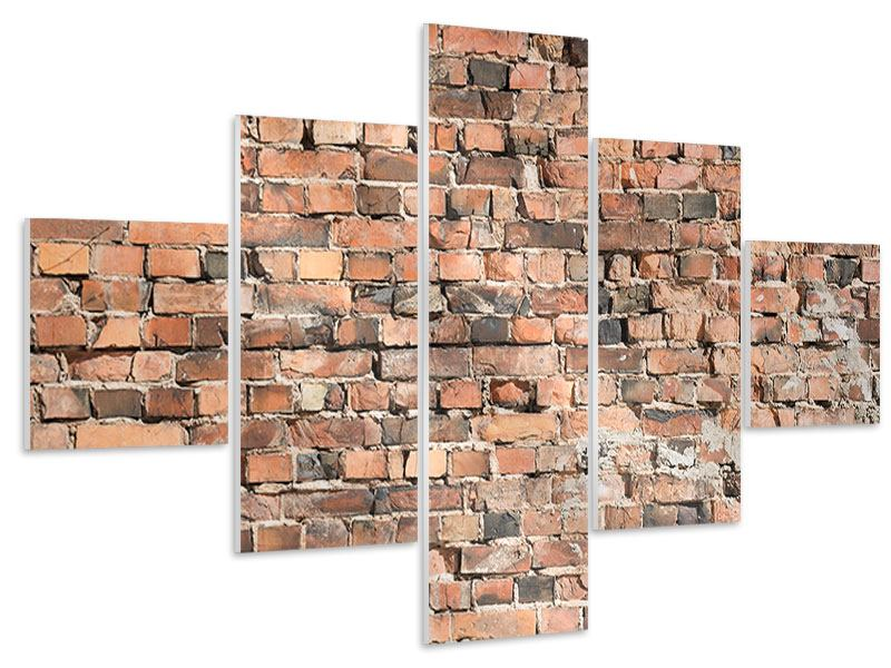 5 Piece Forex Print Old Brick Wall