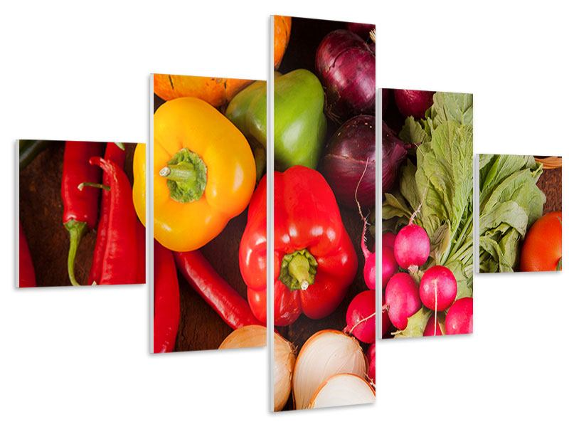 5 Piece Forex Print Healthy Vegetables