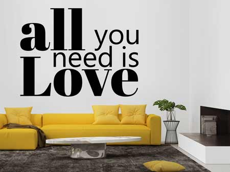 Adesivi murali All You Need Is Love