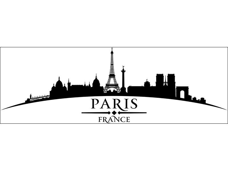 Sticker muraux Skyline Paris