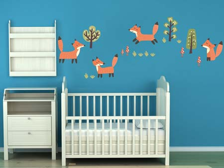 Wall Sticker funny foxes