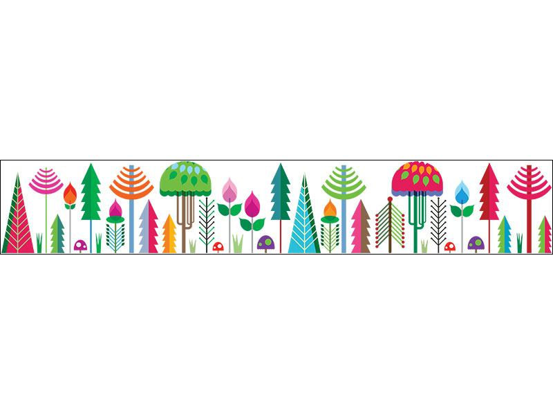 Wall Sticker bosque de colores