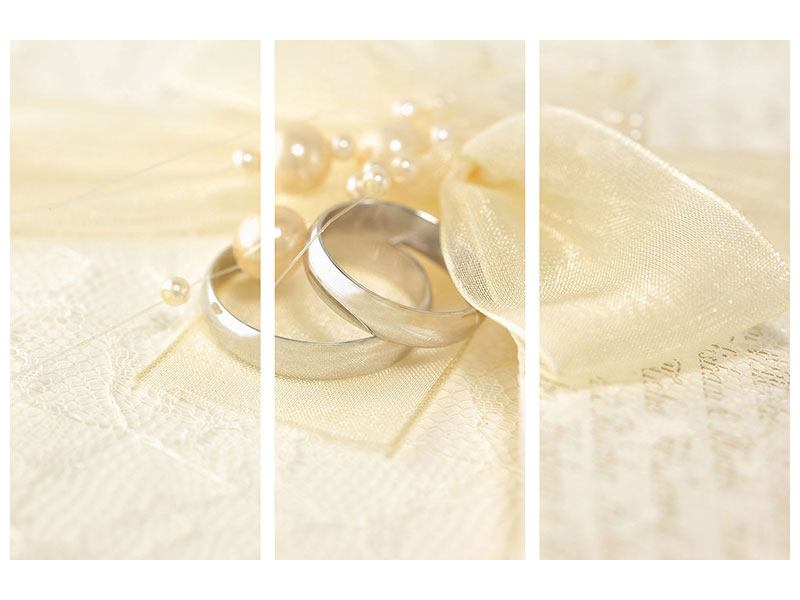 3 Piece Self-Adhesive Poster Wedding Rings