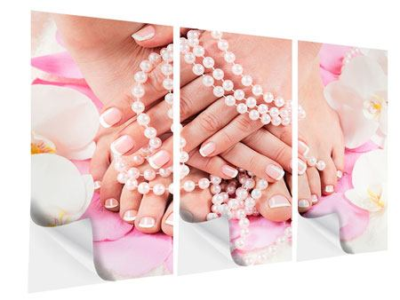 3 Piece Self-Adhesive Poster Hands And Feet