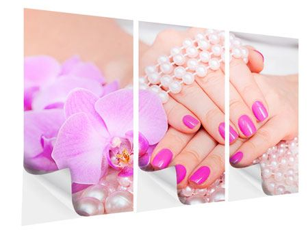 3 Piece Self-Adhesive Poster Manicured Hands