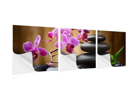 Panoramic 3 Piece Self-Adhesive Poster Wellness Stones