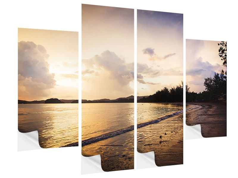 4 Piece Self-Adhesive Poster The Shore