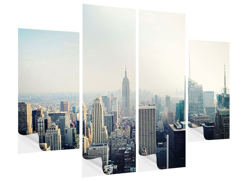 4 Piece Self-Adhesive Poster NYC