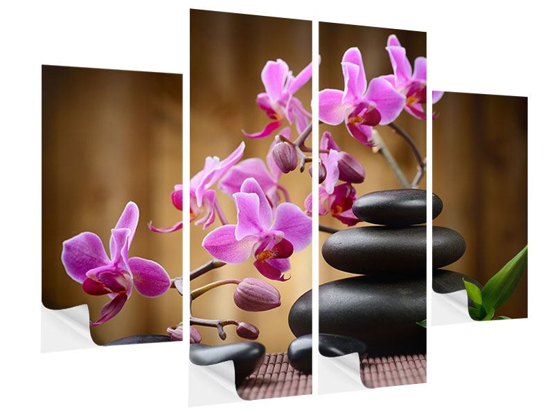 4 Piece Self-Adhesive Poster Wellness Stones