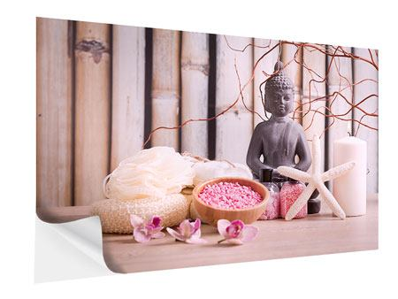 Self-Adhesive Poster Spa & Buddha