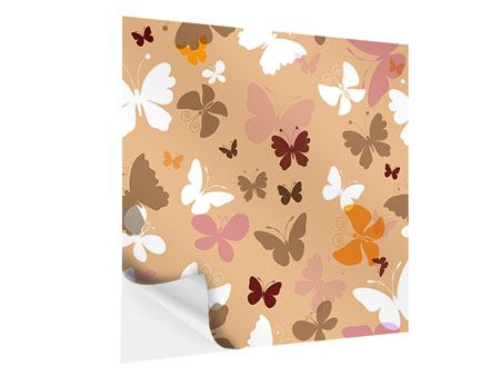 Self-Adhesive Poster Retro Design Butterflies