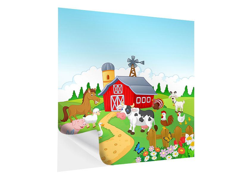 Self-Adhesive Poster Funny Farm