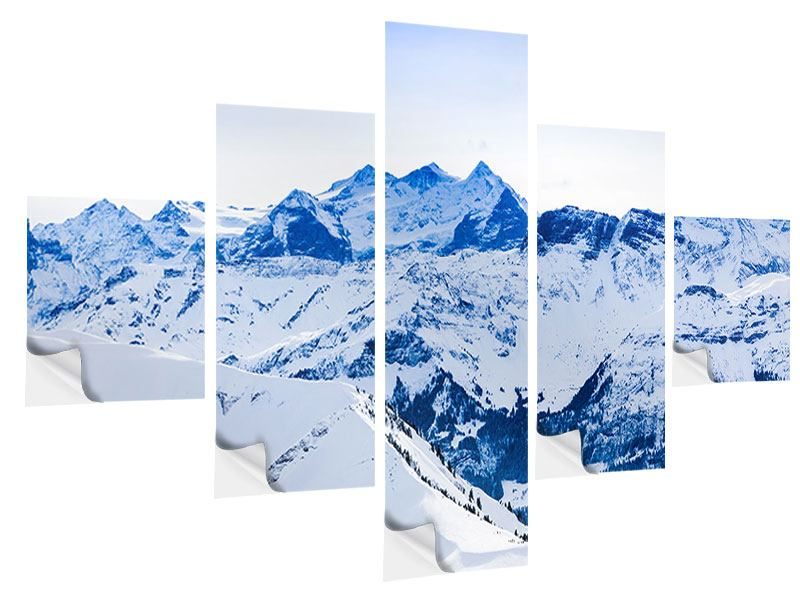 5 Piece Self-Adhesive Poster The Swiss Alps