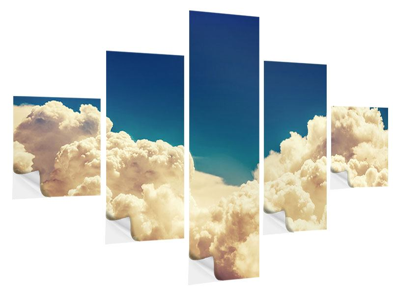 5 Piece Self-Adhesive Poster Sky Clouds