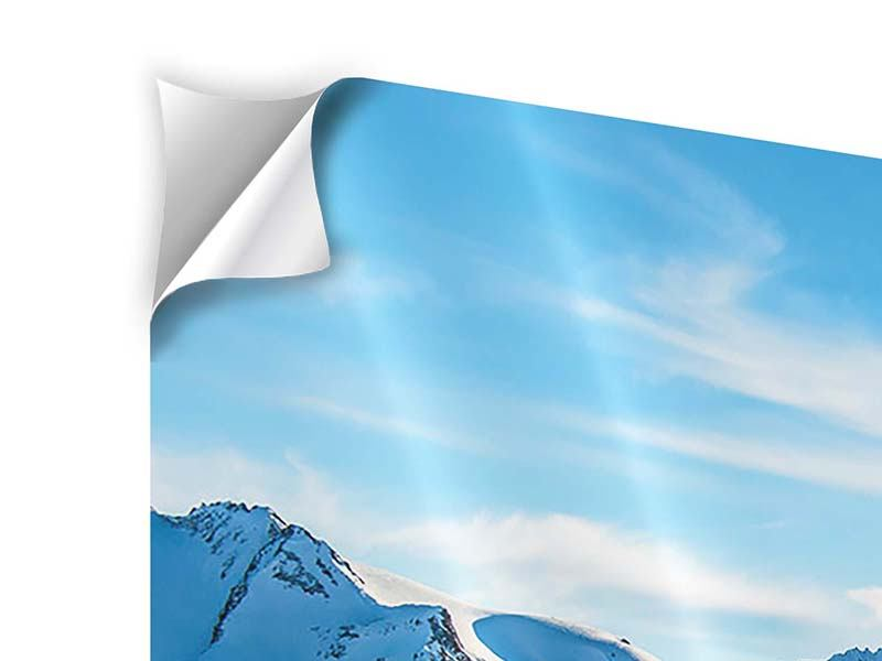 5 Piece Self-Adhesive Poster Photo Wallaper Sunrise In The Mountains
