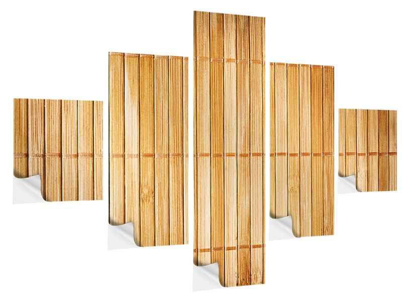 5 Piece Self-Adhesive Poster Bamboo Canes