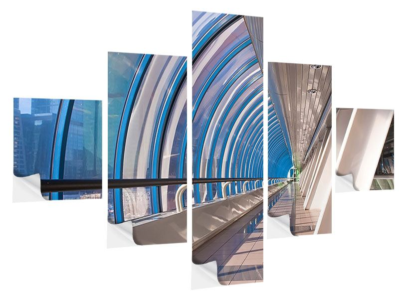 5 Piece Self-Adhesive Poster Hyper Modern Bridge