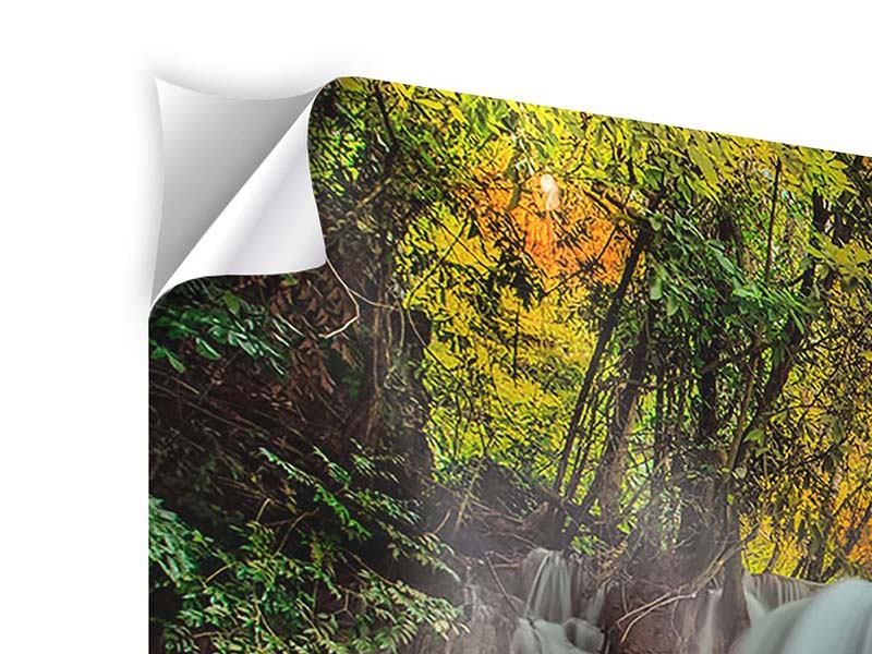 5 Piece Self-Adhesive Poster Falling Water