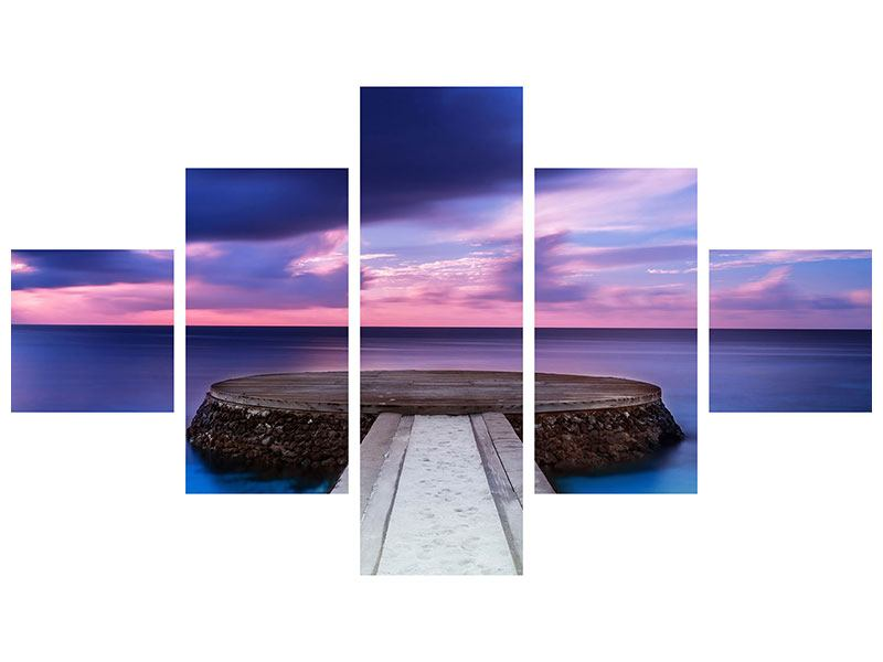 5 Piece Self-Adhesive Poster Meditation By The Sea