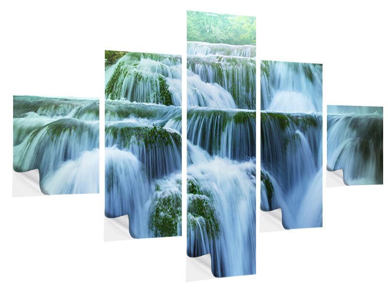 5 Piece Self-Adhesive Poster Giant Waterfall