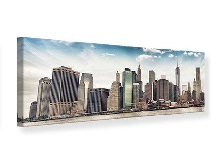 Panoramic Canvas Print NYC From The Other Side